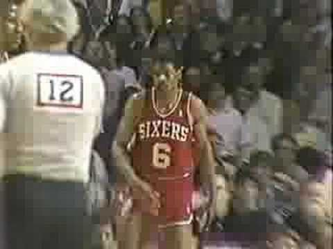 Last minutes of Julius Erving's NBA career