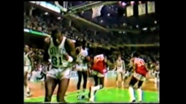 Tree Rollins Danny Ainge Bite game Celtics Hawks 1983 G3