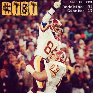 Redskins Beating The Rival Giants in 1991