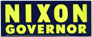 Richard Nixon For Governor of California 1962