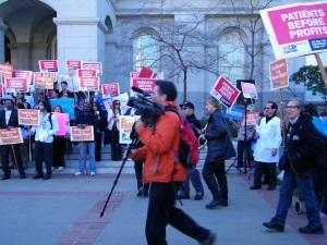 Demonstrators Against Medi-Cal Cuts