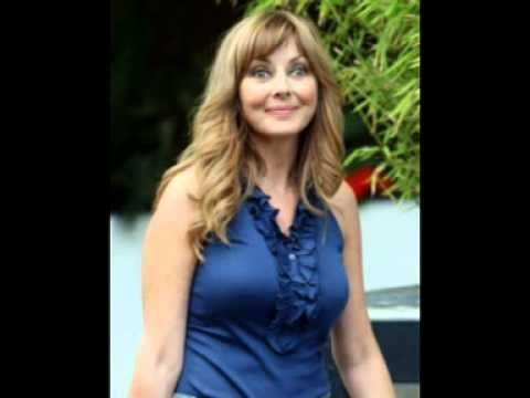 CAROL VORDERMAN TIGHT BLUE TOP AND JEANS UK MILF