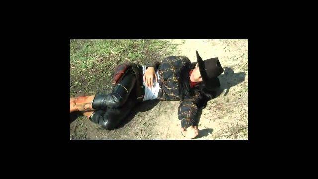 Sexy cowgirl shot black_avi