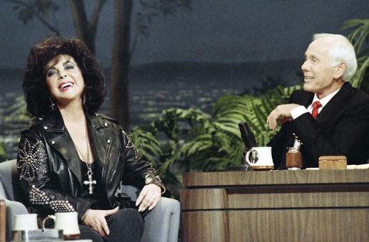 Elizabeth Taylor & Johnny Carson