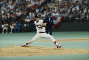 Nolan Ryan Pitching During All-Star Baseball Game