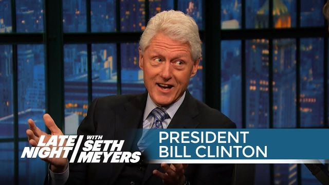 President Bill Clinton on Hillary Clinton's 2016 Plans - Late Night with Seth Meyers