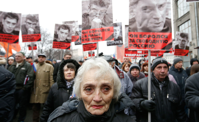 50,000 March in Moscow After The Killing of Opposition Leader Boris Nemtsov - Google Search