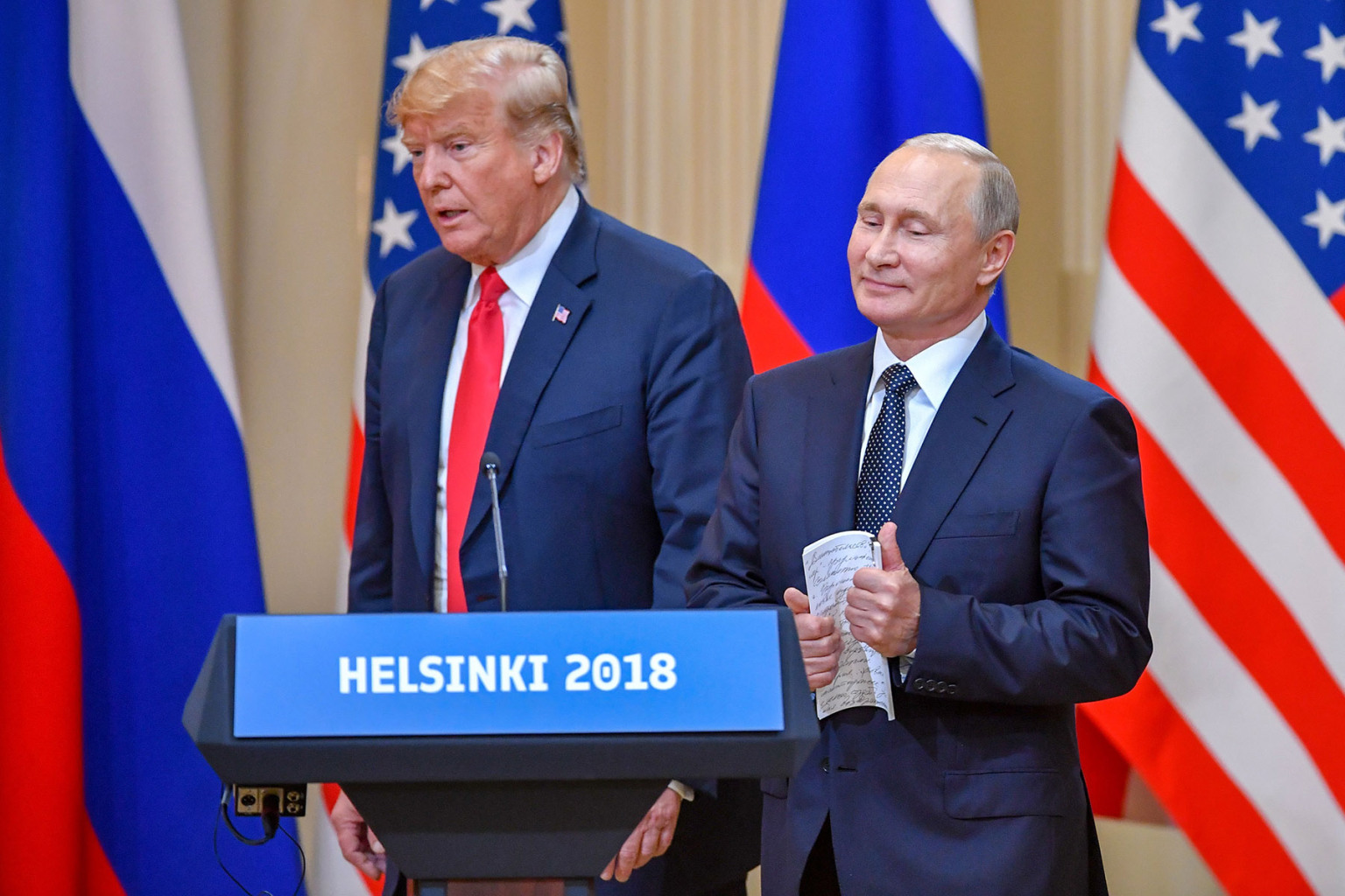 Foreign Policy Magazine: Opinion- Jeremy Shapird: 'Donald Trump Is Coming Off As Vladimir Putin's Poodle, But That Actually Undermines Russia's Ultimate Goal: Vladimir Took His Poodle Donald Out For a Walk