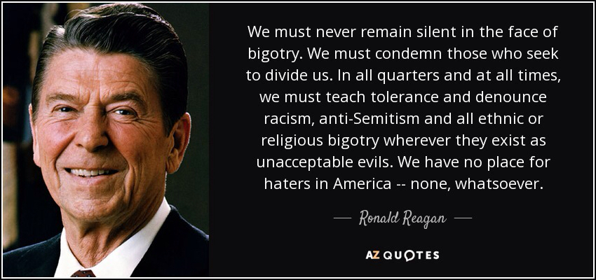 Ronald Reagan: Talking About One America and American Pluralism