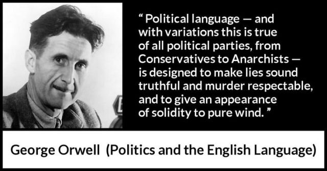 George Orwell on Politicians - Google Search