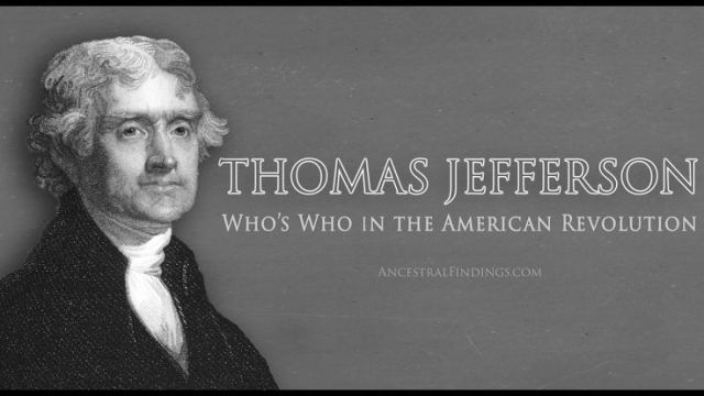 Thomas Jefferson _ Who's Who in the American Revolution _ Genealogy Gold Podcast - Google Search