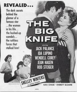 Jack Palance, Shelley Winters, Jean Hagen, and Ida Lupino in The Big Knife (1955)
