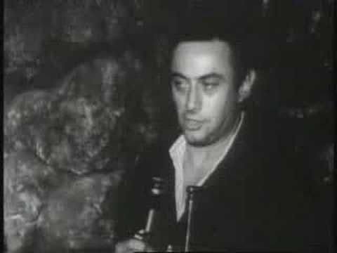Lenny Bruce on Stage Just Before He Died